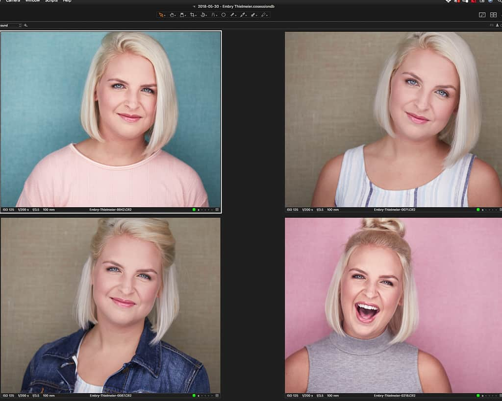 Headshots on Colored Backgrounds